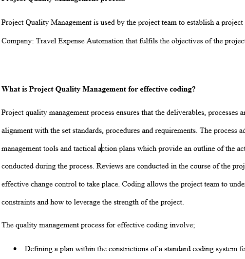 essay on quality management